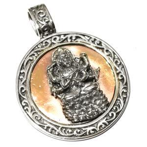 orientalvibrations チベット密教 愛染明王(あいぜんみょうおう) スターリングシルバー ペンダントトップ オリエンタルバイブレーション rapanui