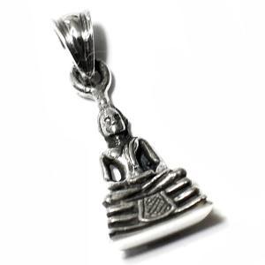 チベット密教 釈迦 スターリングシルバー ペンダント ミニ|シルバー925|純銀|ペントップ メール便対応可|rapanui