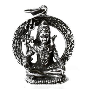 最高神 シヴァ神 スターリングシルバー ペンダントトップ 大|シルバー925|インド神話|ヒンドゥー教|神々 メール便対応可|rapanui