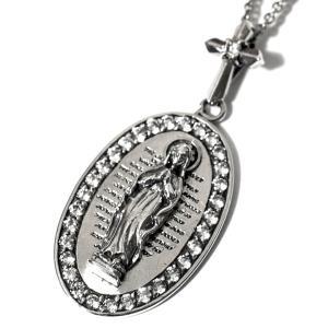 goodvibrations メキシコ グアダルーペの聖母(マリア) キュービックジルコニア シルバー ペンダント|グッドバイブレーション メール便対応可|rapanui