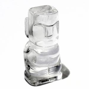 イースター島 モアイ 天然水晶 置物|チリ|南米|チリ|ラパヌイ メール便対応可|rapanui