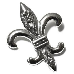 PETER STONE フルール・ド・リス(百合の紋章) セルティック模様 スターリングシルバー ペンダントトップ|ドルイド教|アイルランド|シルバー925|rapanui
