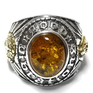 goodvibrations メキシコ グリーンアンバー メキシカンスカル グアダルーペの聖母(マリア) シルバー カレッジリング(指輪)|グッドバイブレーション|rapanui