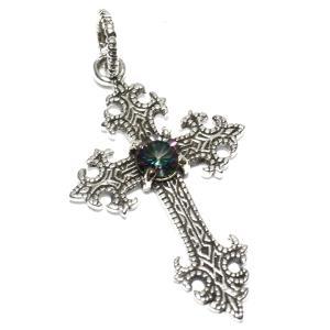 goodvibrations ミスティッククォーツ クロス(十字架) シルバー ペンダントトップ|シルバー925|グッドバイブレーション メール便対応可|rapanui
