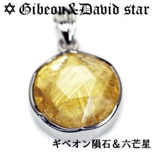 ギベオン隕石 六芒星(ダビデの星) スターリングシルバー ペンダントトップ ゴールド|クリスタル|イスラエル|ソロモンの印|ユダヤ教|ダビデの星|rapanui