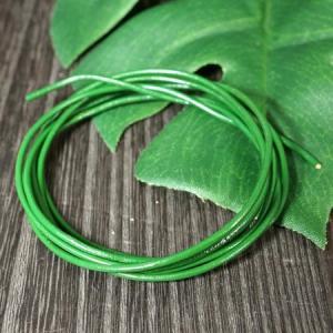 卸価格販売 レザーコード(革紐)丸型 牛革 直径1.5mm×1m グリーン(緑色)|ネックレス|チェーン|アクセサリー用|素材 メール便対応可|rapanui