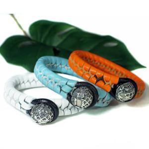 地球儀 スターリングシルバー 本革編み込み ブレスレット |手首周り15.5cm、17cm 2サイズ メール便対応可|rapanui