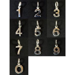 バリシルバーパーツ ナンバー(数字) チャーム|インドネシア|バリ島|シルバー925|パーツ|卸価格 メール便対応可|rapanui