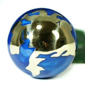 メキシコ MUSICAL BALL ミュージカルボール 地球儀 特大 ブルー 40mm|ガムランボール|音玉|ミュージック|鈴|鐘(ベル)|オルゴール||rapanui