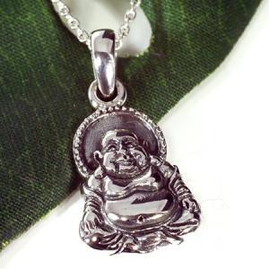 チベット密教 布袋様(ほてい) スターリングシルバー ペンダント|シルバー925|純銀|ペントップ メール便対応可|rapanui