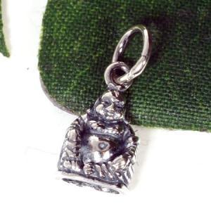 チベット密教 布袋様(ほてい) スターリングシルバー チャーム|シルバー925|純銀|ペントップ メール便対応可|rapanui