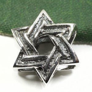 六芒星(ダビデの星) スターリングシルバー ビーズ ペンダント|イスラエル|ソロモンの印|ユダヤ教|シルバー925|ペンダント・ネックレス|rapanui