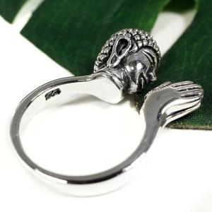 チベット密教 ブッダ(釈迦) スターリングシルバー リング(指輪) シルバー925 純銀 ペントップ rapanui