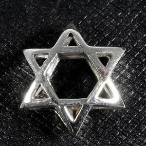 六芒星(ダビデの星) スターリングシルバー ビーズ イスラエル ソロモンの印 ユダヤ教 シルバー925 ペンダント・ネックレス メール便対応可 rapanui