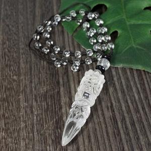 一点物 ヒマラヤ水晶 金剛杭(プルパ) ネックレス 長さ調整可能|クル渓谷|天然石|パワーストーン|チベット密教|法具|rapanui