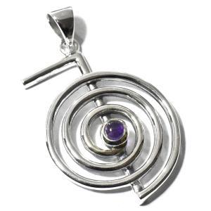 【PETER STONE】レイキ 第一シンボル 超空霊 アメジスト 高品質シルバー ペンダントトップ|チョウクウレイ【送料無料】|rapanui