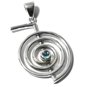 【PETER STONE】レイキ 第一シンボル 超空霊 ブルートパーズ 高品質シルバー ペンダントトップ|チョウクウレイ【送料無料】|rapanui