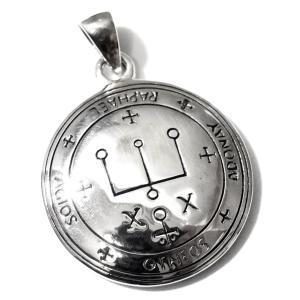 【PETER STONE】ソロモン王の鍵 大天使ラファエルの護符 シルバー ペンダントトップ|アルマデルの魔導書|rapanui