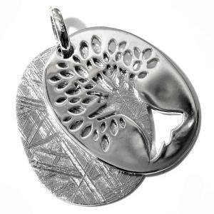 ツリーオブライフ(生命の樹) ギベオン隕石 スライド式 スターリングシルバー ペンダントトップ【送料無料】|rapanui