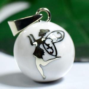 メキシコ MUSICAL BALL ミュージカルボール フェアリー(妖精) ホワイト ペンダントトップ【メール便対応可】 rapanui