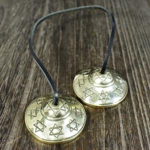 チベット密教 ティンシャ(チベタンシンバル) 六芒星(ダビデの星) ミニ【メール便対応可】|rapanui|02