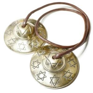 チベット密教 ティンシャ(チベタンシンバル) 六芒星(ダビデの星) 7メタル【メール便対応可】|rapanui