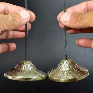 チベット密教 ティンシャ(チベタンシンバル) フラワーオブライフ(生命の花) 7メタル【メール便対応可】|rapanui|03