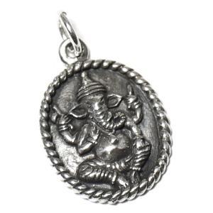 【PETER STONE】インドの神様 ガネーシャ 高品質シルバー ペンダントトップ|rapanui