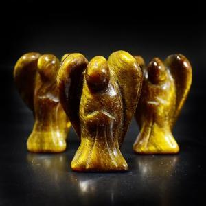 エンジェル(天使)タイガーアイ(虎目石) 彫刻 サイズ:18×25mm|rapanui