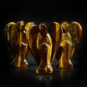 エンジェル(天使)タイガーアイ(虎目石) 彫刻 サイズ:28×40mm|rapanui