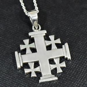 聖地エルサレム 十字軍 スターリングシルバー クロス ペンダント|rapanui