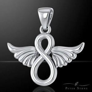 【PETER STONE】天使の羽(翼) インフィニティ スターリングシルバー ペンダントトップ|rapanui
