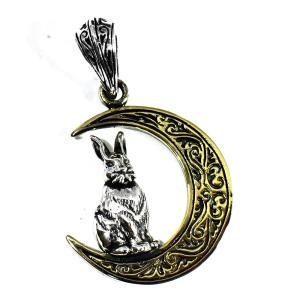 【goodvibrations】月の兎(ウサギ) お守り シルバー ペンダントトップ rapanui