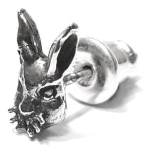 【goodvibrations】ウサギ(兎) スターリングシルバー  ピアス (1P/片耳用) rapanui