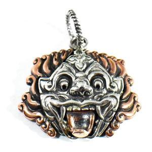 【orientalvibrations】バリ島の神様 聖獣バロン 高品質シルバーペンダントトップ rapanui