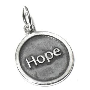 バリシルバーパーツ 英語 HOPE(希望) スターリングシルバー チャーム いぶし加工 ペンダント インドネシア バリ島 シルバー925 パーツ 卸価格 rapanui