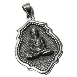 チベット密教 釈迦 スターリングシルバー ペンダント シルバー925 純銀 ペントップ メール便対応可 rapanui