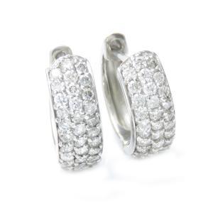 ダイヤモンド ピアス プラチナ900 0.5ct パヴェ フ...