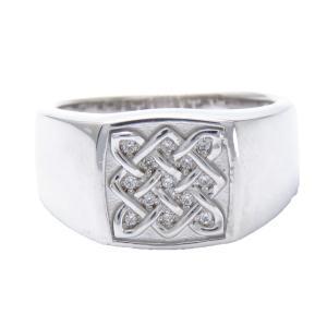 レディース指輪 ダイヤモンドリング プラチナ 印台 リング ...