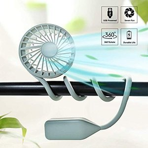 LIULIFE Hand Free Neck Fan USB Rechargeable Portab...