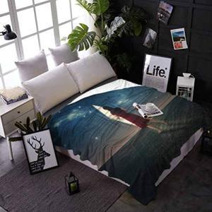 Surrealistic Velvet Plush Blanket Barefoot Woman L...