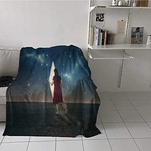 painting-home Traveling Blankets Barefoot Woman Lo...