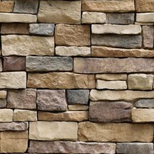 送料無料 3D 壁紙 シール 壁紙レンガ ストーン柄 貼ってはがせる 10m巻き 岩の木目調 リフォ...