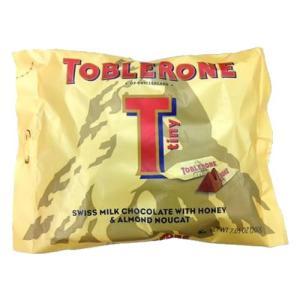 はちみつとアーモンドヌガー入りの、食べやすいミニサイズのミルクチョコレートを袋に詰めました。 製造国...