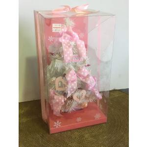 卓上クリスマスツリー ホワイト&ピンク|rare-mori