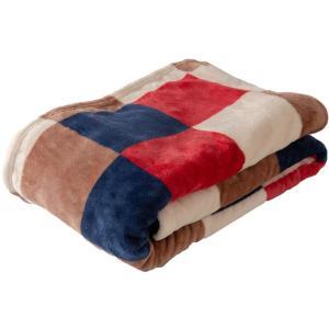アイリスプラザ 毛布 シングル ブランケット プレミアムマイクロファイバー 洗える 静電気防止 とろけるような肌触り fondan 品質保証書付 チェックレッド 140×の画像