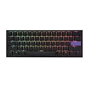 Ducky One 2ミニRGBチェリーMXスイッチPBTキーキャップ60%RGBメカニカルゲーミン...