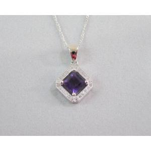 アメジスト 紫水晶 ペンダント H5.0mm×W5.0mm  アクセサリー 送料無料 A0368|rarestone
