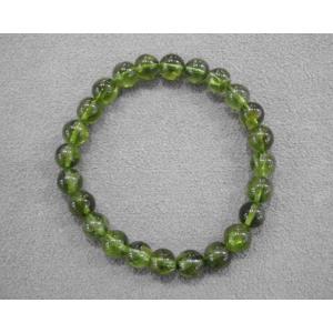 ペリドット 橄欖石 ブレスレット 8mm玉 オリビン アクセサリー  送料無料 A0378 rarestone