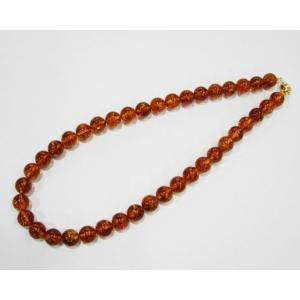 琥珀ネックレス 50cm アンバー 天然石 送料無料 YA013 rarestone